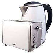 *SAVE £15* Igenix 1.7L Stainless Steel Kettle and 2-Slice Toaster - White