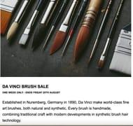 Da Vinci Brushes save an Extra 15% at Jackson's Art Supplies