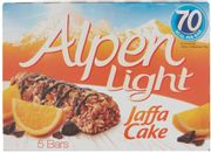 Alpen Light Jaffa Cake 5 x Bar Multipack 95g