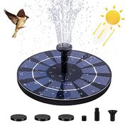 FREESOO Solar Powered Floating Fountain Pump with Battery Backup - Only £4.99!