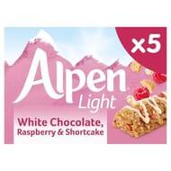 Alpen Light White Chocolate Rasberry & Shortcake 5 X 19g