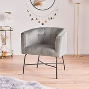 Grey Accent Tub Chair Down From £129.99 to £94.99