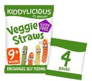 Kiddylicious Veggie Straws 4 X 12g (48g)