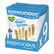 Kiddylicious Cheesy Veggie Straws | Delicious Finger Food - Only £4.28!