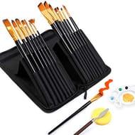 50% off Shuttle Art 18 Pack Premium Paint Brushes Set