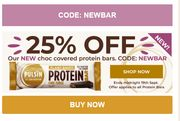Get 25% Off Our New Choc Covered Protein Bars