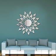 Mirror Wall Stickers Sun Flower Shape