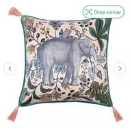 Argos Home Elephant Cushion