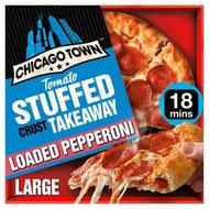 Chicago Town Takeaway Large Stuffed Pepperoni Pizza (Tomato Stuffed Crust) 645g