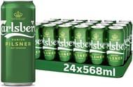 Carlsberg Danish Pilsner Can Multipack, 24 X 568 Ml Short Dated Stock