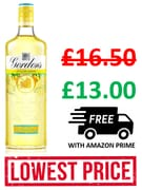 CHEAPEST PRICE! Gordon's Sicilian Lemon Distilled Gin, 70cl