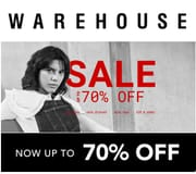 Warehouse Sale - up to 70% OFF