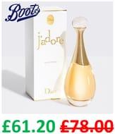 DIOR J'adore Eau De Parfum Spray 50ml - £68 / £61.20 with Code