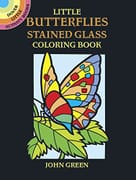 Little Butterflies Stained Glass Colouring Book (Little Activity Books) - 14cm
