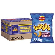 Walkers Crisps Wotsits Really Cheesy Snacks Box, 22.5 G (Case of 32)
