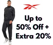 Save up to 50% off at Reebok + Extra 20% off Code
