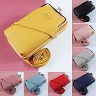 Phone Bag PU Leather Clutch Crossbody Mini Purse Wallet Shoulder Bag