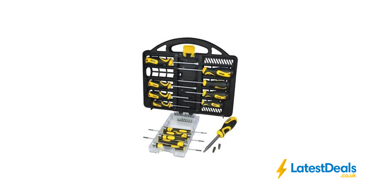stanley 34 piece professional screwdriver set with carry case robert dyas. Black Bedroom Furniture Sets. Home Design Ideas