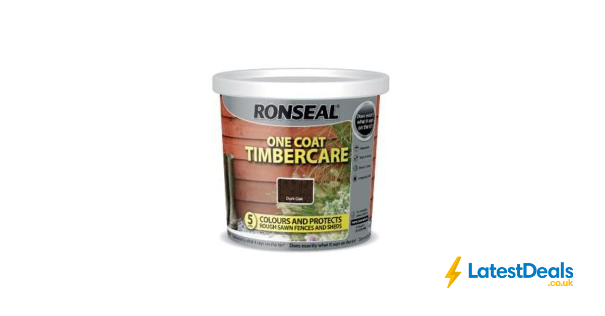 ronseal one coat timbercare 5 litres 5 at asda. Black Bedroom Furniture Sets. Home Design Ideas