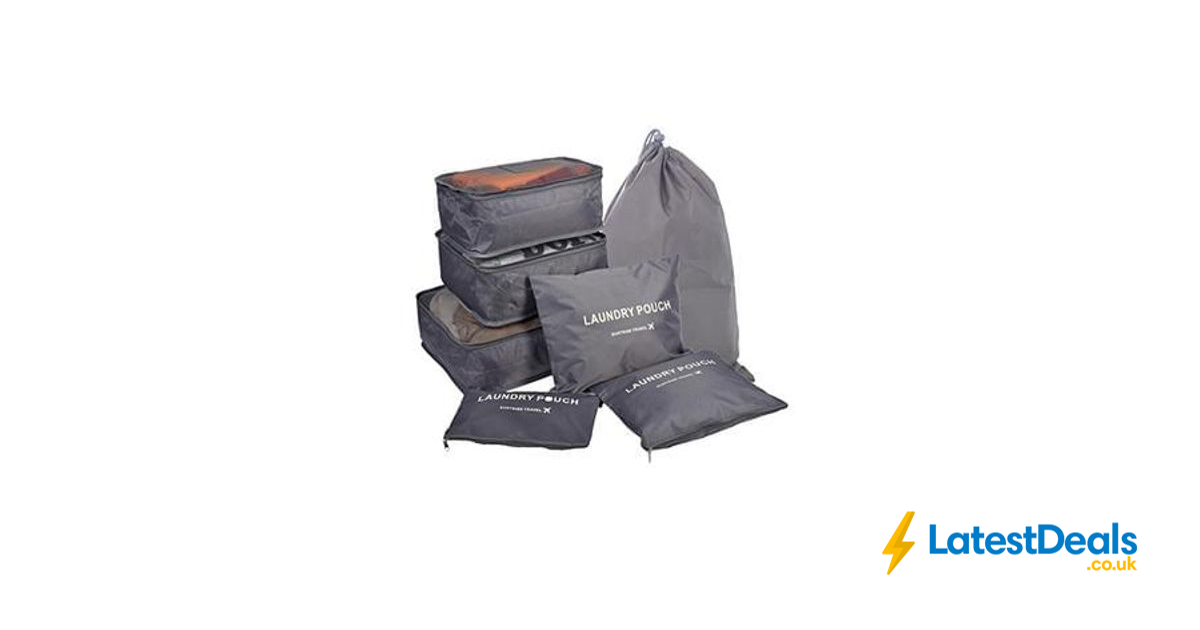 7 sets travel organisers packing cubes luggage compression. Black Bedroom Furniture Sets. Home Design Ideas