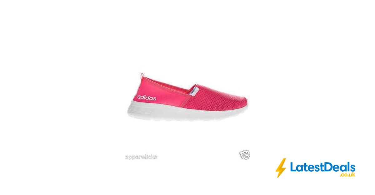 Adidas Women/'s Lite Racer Slip On Low Top Running Casual Pink Trainers B-Grade