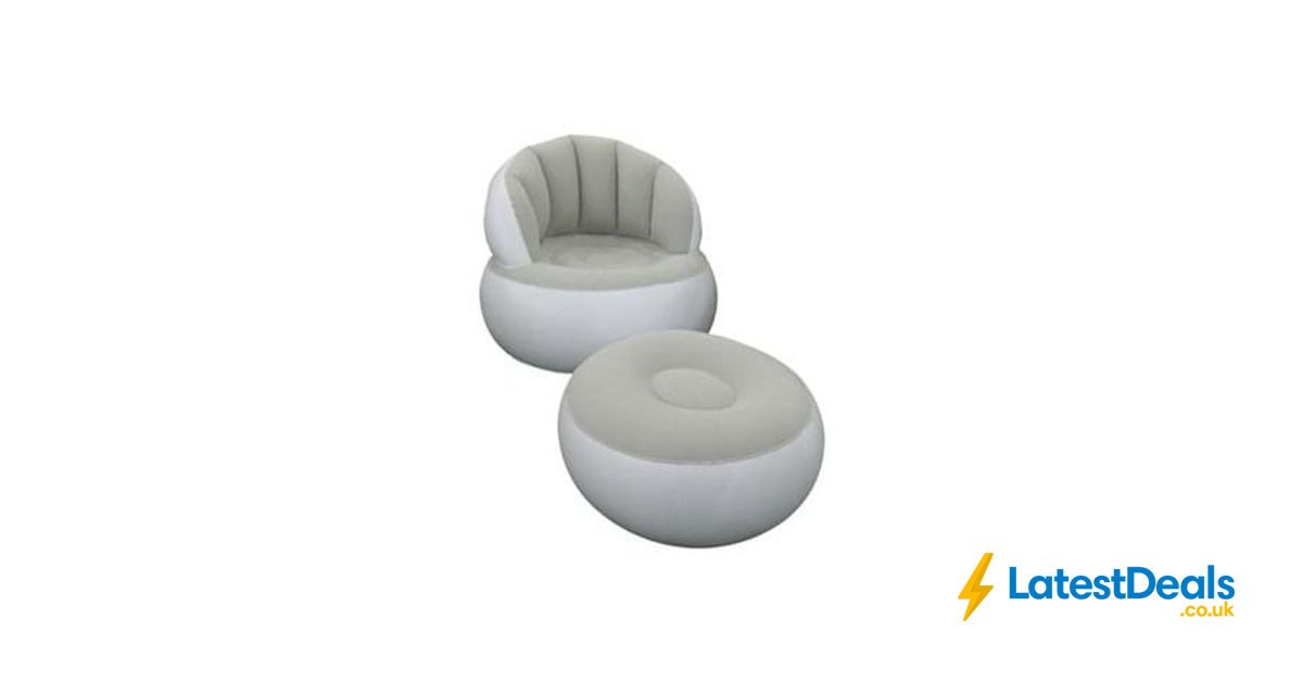 Enjoyable Tesco Inflatable Lounge Chair With Footstool Half Price Dailytribune Chair Design For Home Dailytribuneorg
