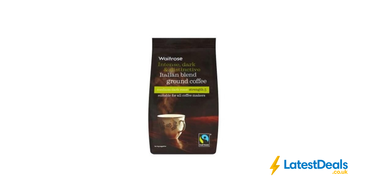 Waitrose Cafetiere 227g Bags Of Ground Coffee Italian Or