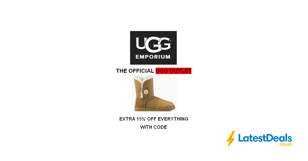 UGG EMPORIUM. Extra 15% off OFFICIAL UGG OUTLET Prices with Code, £63.75 | LatestDeals.co.uk
