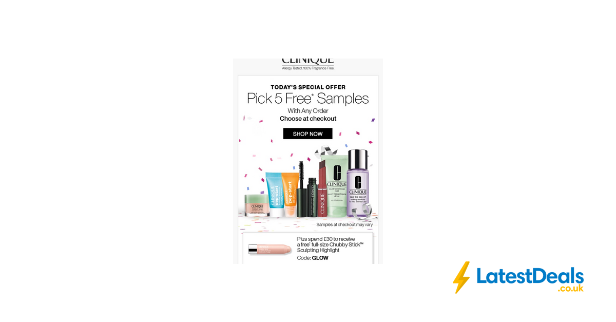Free clinique goody bag | free stuff finder uk.
