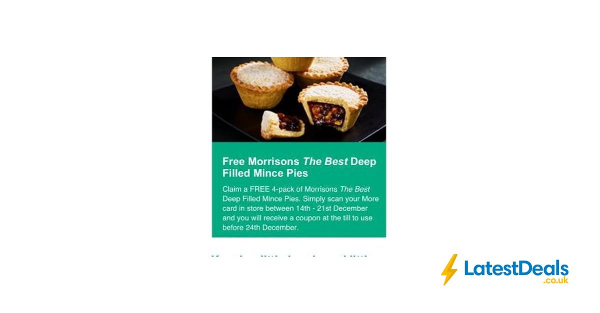 Free Mince Pies At Morrisons From 14th Dec Latestdealscouk