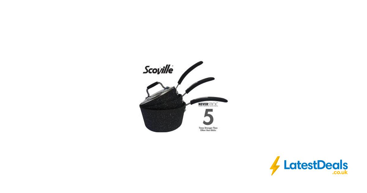 scoville neverstick 3 piece saucepan set free c c 25 at. Black Bedroom Furniture Sets. Home Design Ideas