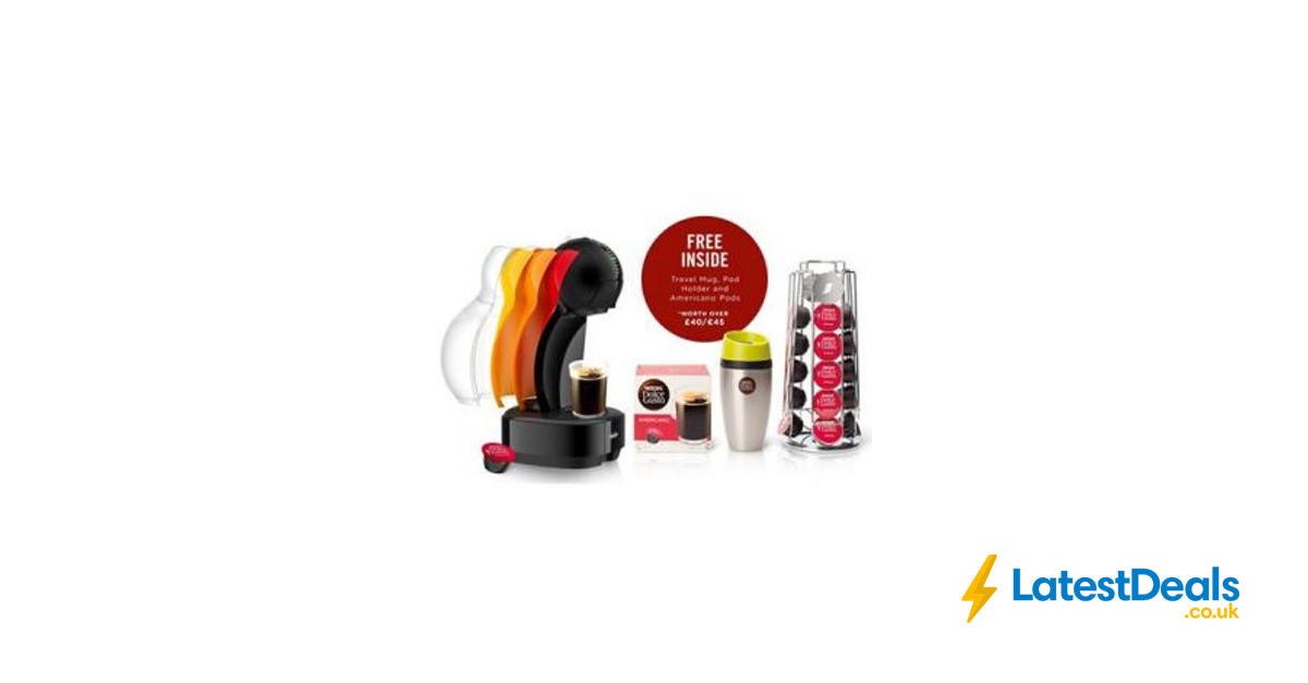 Nescaf Dolce Gusto Colors Black Coffee Machine With Free