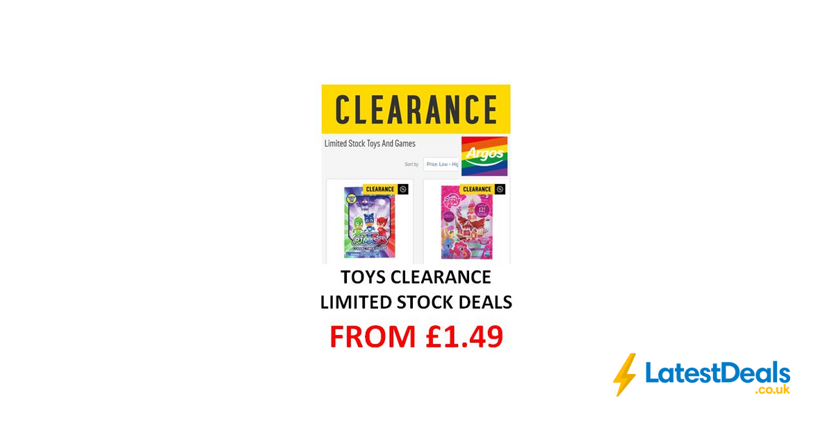 new concept 8e1bd 286ce ARGOS TOYS CLEARANCE - Limited Stock Toys   Games from £1.49    LatestDeals.co.uk