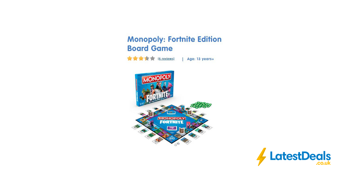 Monopoly Fortnite Edition In Stock At The Entertainer For Home