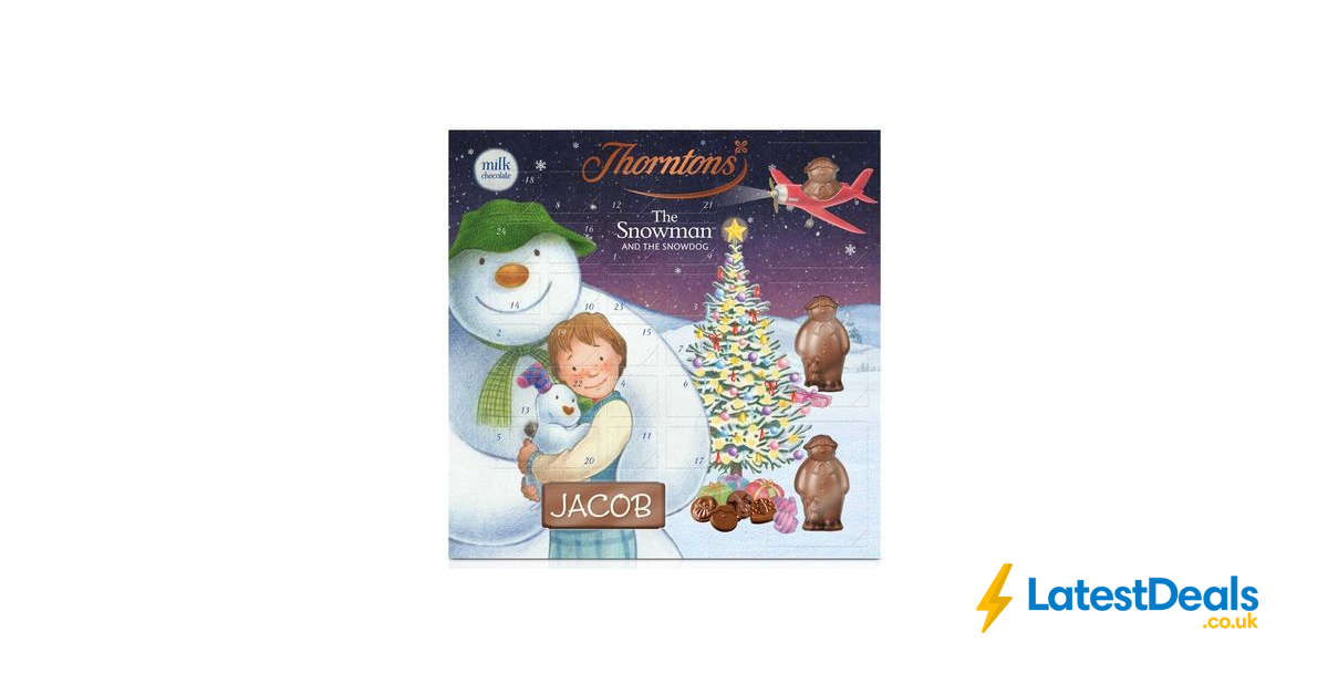 Large Snowman Advent Calendar 148g From Thorntons 7