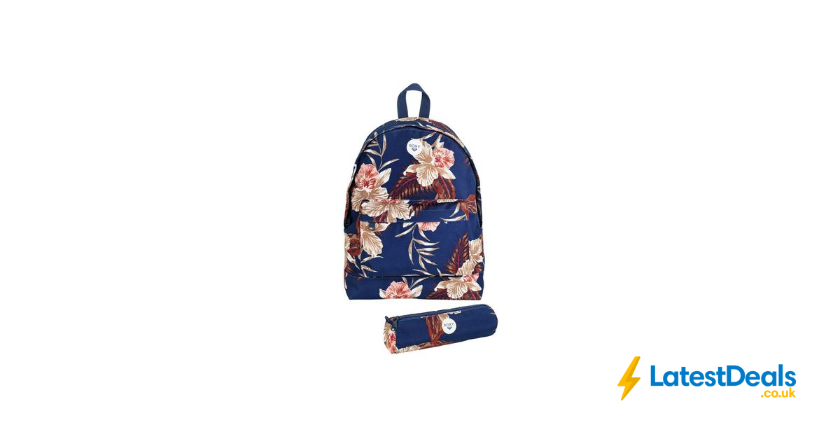 3fee1bf500 Bargain! Roxy Floral Backpack and Pencil Case - Navy at Argos ...