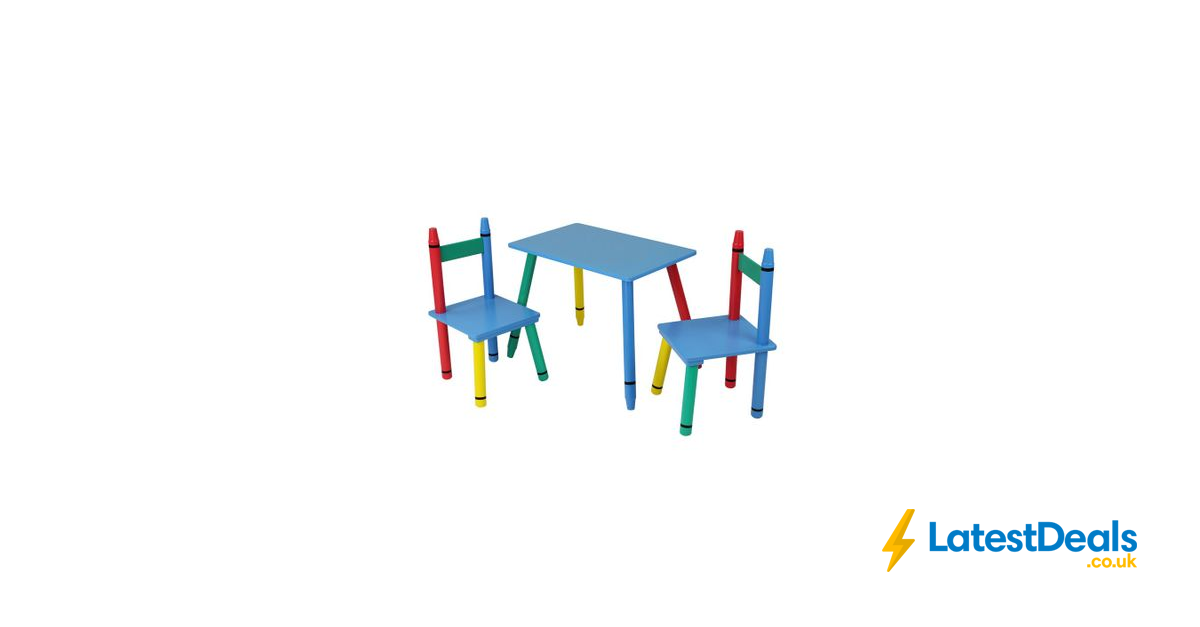 Admirable Home Scape Kids Crayon Table And Chair Set 19 99 At Robert Ocoug Best Dining Table And Chair Ideas Images Ocougorg