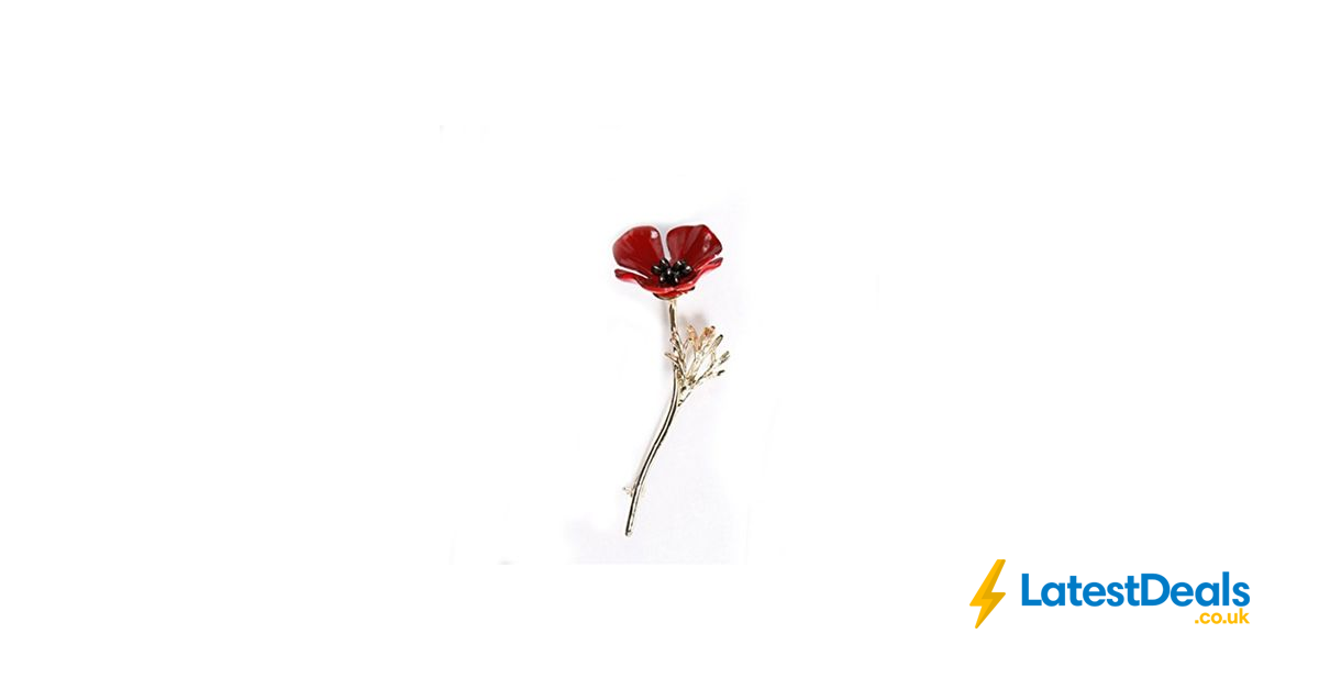 a5de61d129005 Poppy Flower Pin Brooch FREE DELIVERY, £1.53 at Amazon   LatestDeals ...