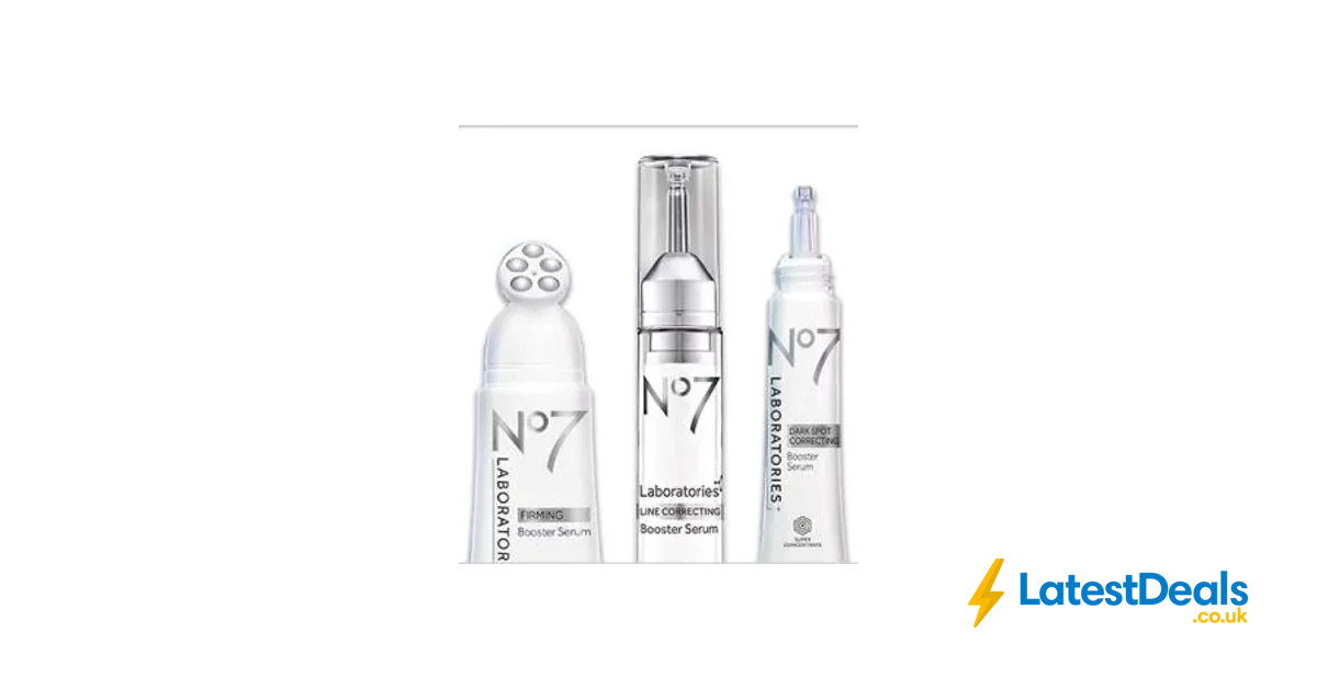 Boots No7 Booster Serums - Half Price & 3 for 2 Online Only