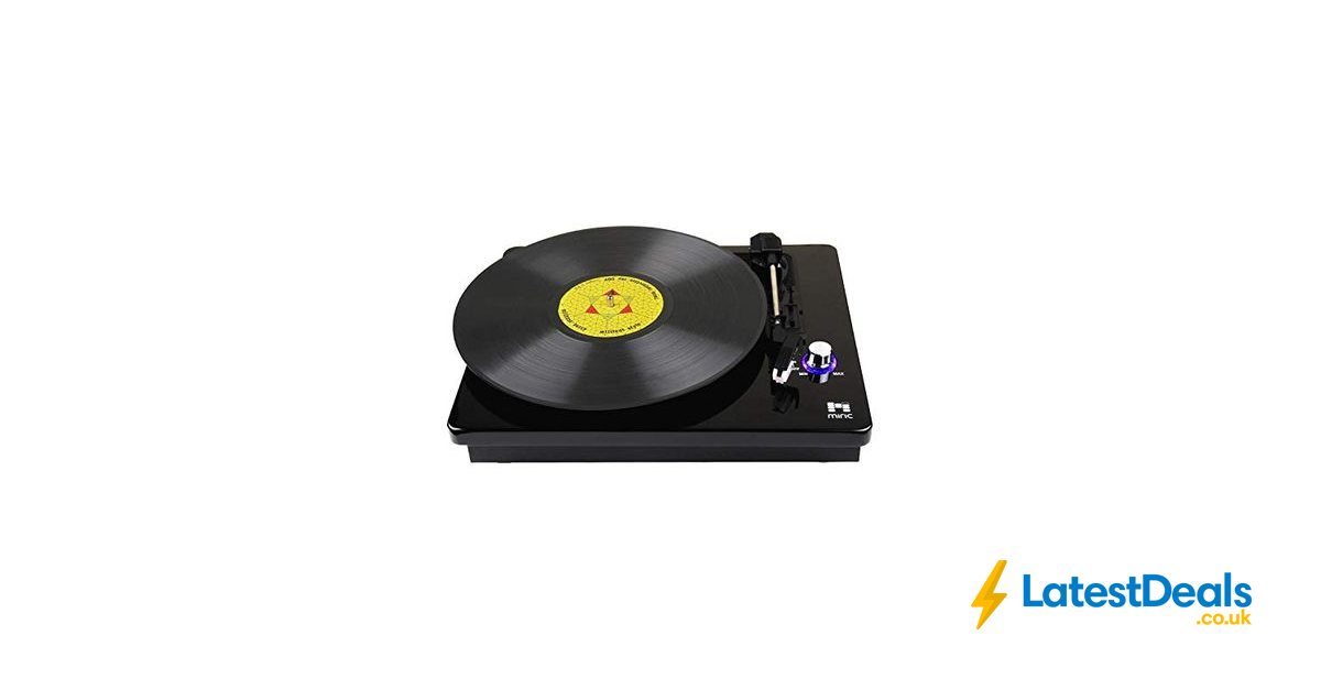 Bluetooth Turntable, Miric Record Player with 2 Built-in