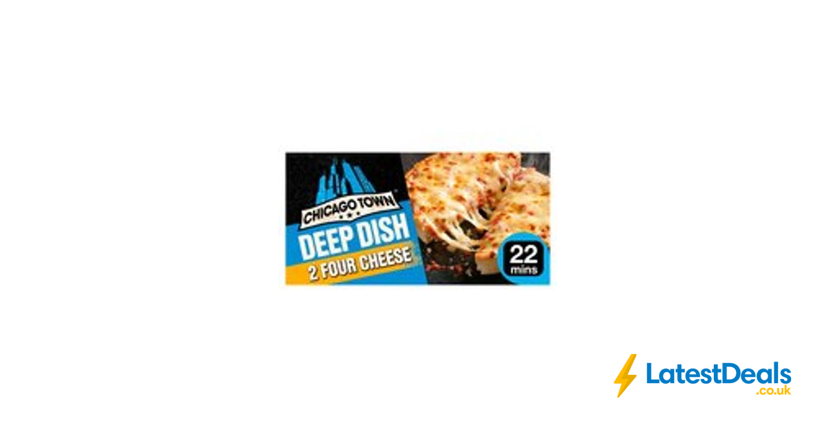 Chicago Town Deep Dish Four Cheese Pizzas 2 X 155g 1 At