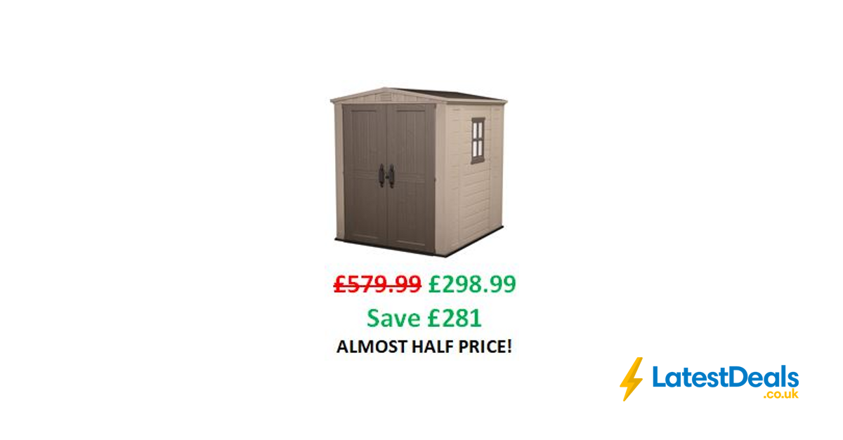 Almost Half Price Keter Garden Storage Shed 6 X 6 Ft 298 99 At Amazon Latestdeals Co Uk