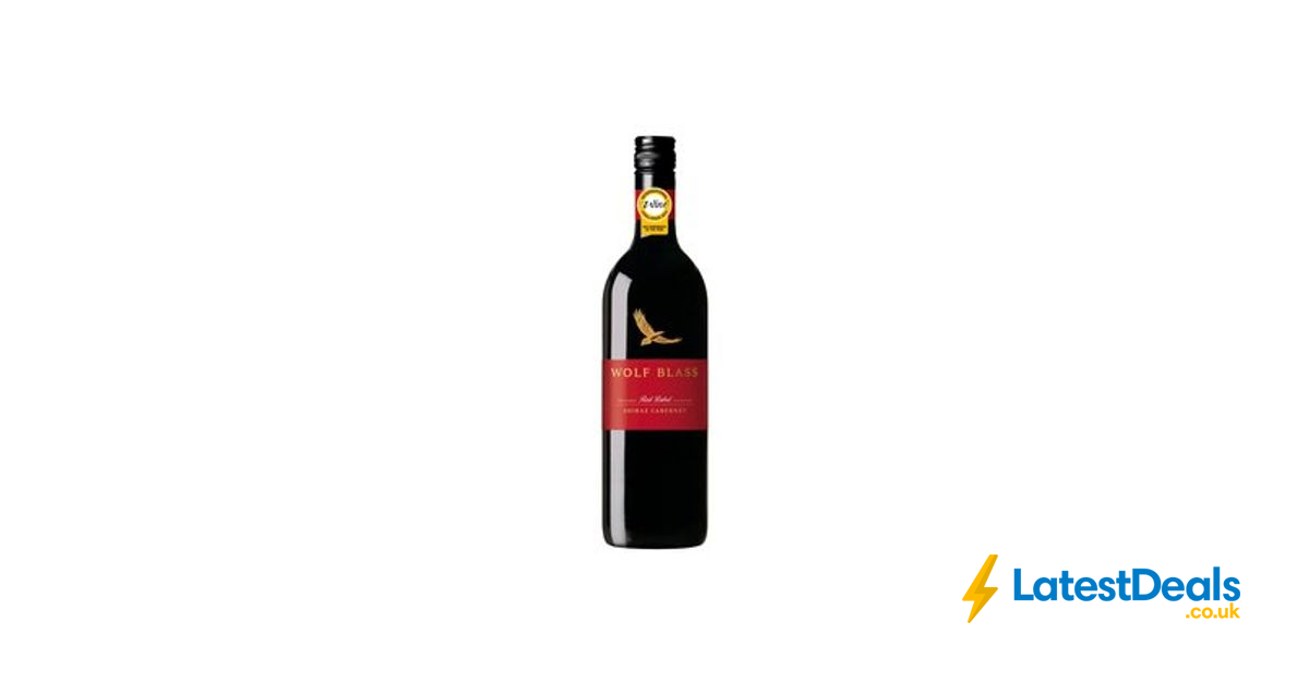 It is a photo of Lucrative Wolf Blass Red Label Shiraz 2020
