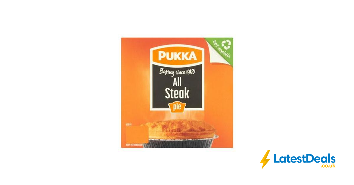 Pukka Pie (All Steak/ Chicken & Mushroom / Steak & Kidney ...