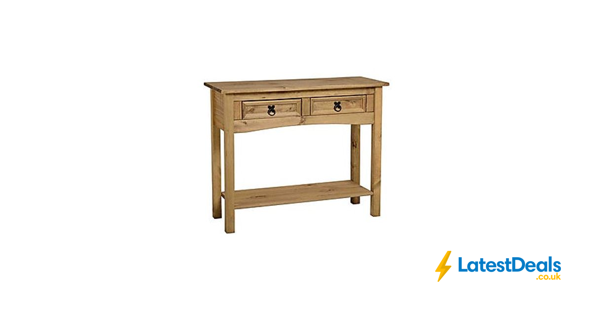 Picture of: Corona 2 Drawer Console Table 43 20 At Dunelm Latestdeals Co Uk