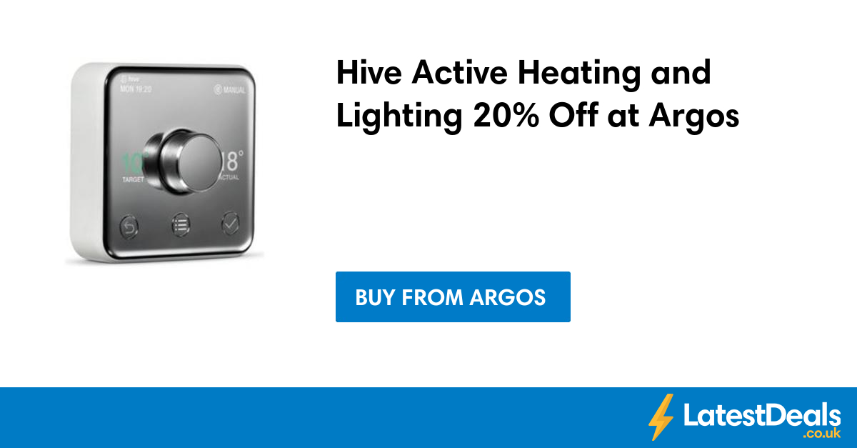hive active heating and lighting 20 off at argos. Black Bedroom Furniture Sets. Home Design Ideas