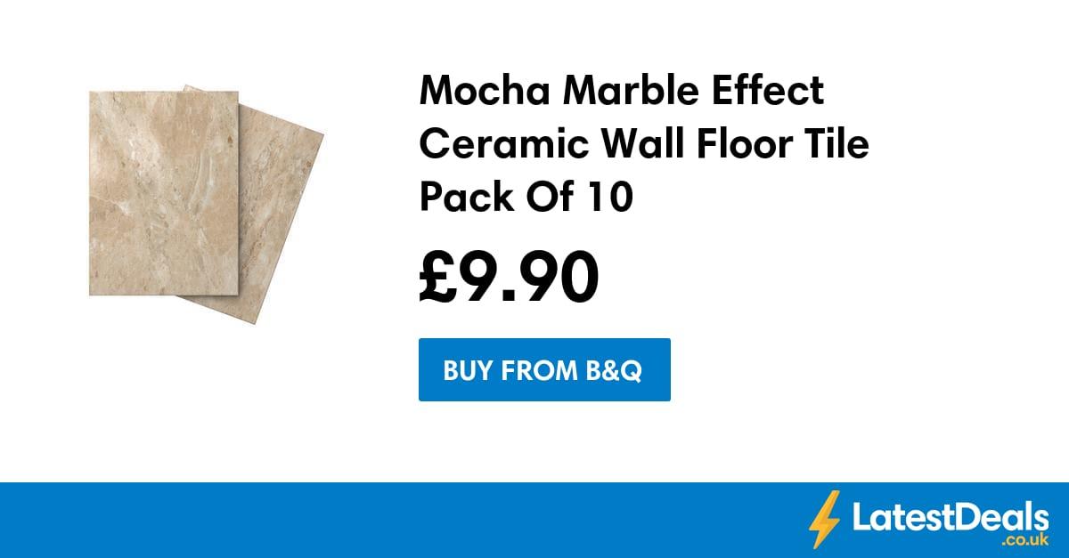 Mocha Marble Effect Ceramic Wall Floor Tile Pack Of 10 9
