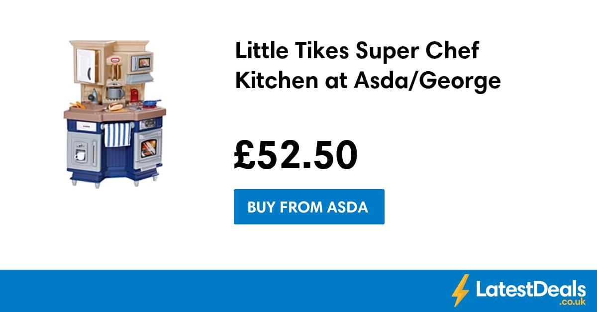 little tikes super chef kitchen at asda george. Black Bedroom Furniture Sets. Home Design Ideas