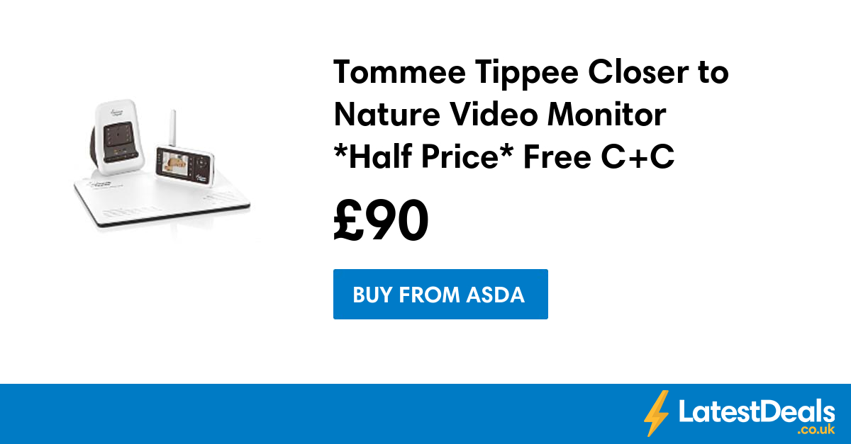 tommee tippee closer to nature video monitor half price. Black Bedroom Furniture Sets. Home Design Ideas