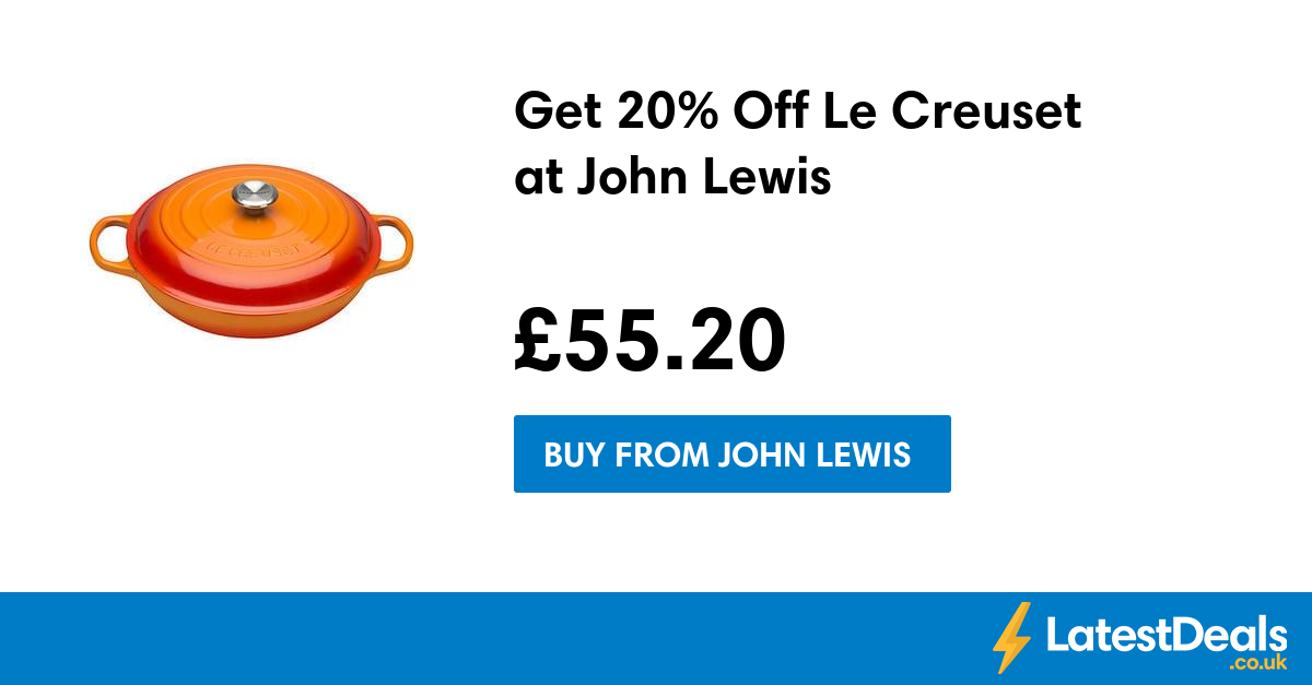 John Lewis 20 Off Code for January Just click the button shown below and spend less when shopping at John Lewis web-based shop. About John Lewis: John Lewis is a chain store which provides for your every demand. Ranging from the latest fashions to food items – whether you would certainly like a new [ ].